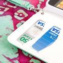 Alcatel OneTouch Fierce - Mint/ White MPERO FLEX FLIP Wallet Case Cover Angle 6