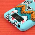 Motorola DROID MAXX / DROID Ultra - Aqua Safari MPERO IMPACT X - Stand Case Angle 6