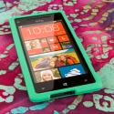 HTC Windows Phone 8S - Mint Green MPERO SNAPZ - Rubberized Case Cover Angle 2