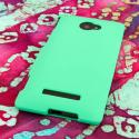 HTC Windows Phone 8S - Mint Green MPERO SNAPZ - Rubberized Case Cover Angle 3