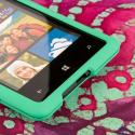 HTC Windows Phone 8S - Mint Green MPERO SNAPZ - Rubberized Case Cover Angle 5