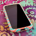 Motorola Moto G - Mint Chevron MPERO SNAPZ - Rubberized Case Cover Angle 2