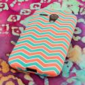 Motorola Moto G - Mint Chevron MPERO SNAPZ - Rubberized Case Cover Angle 3