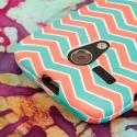 Motorola Moto G - Mint Chevron MPERO SNAPZ - Rubberized Case Cover Angle 6
