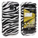 LG Optimus S LS670 / U / V Black / White Zebra Design Crystal Hard Case Cover Angle 1