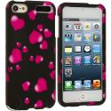 Apple iPod Touch 5th 6th Generation Raining Hearts Hard Rubberized Design Case Cover Angle 1