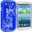 Samsung Galaxy S3 Blue Diamond Luxury Flower Case Cover Angle 1