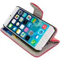 Apple iPhone 6 6S (4.7) Red Leather Wallet Pouch Case Cover with Slots Angle 6
