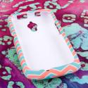 Huawei Vitria - Mint Chevron MPERO SNAPZ - Rubberized Case Cover Angle 2
