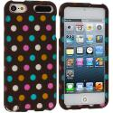 Apple iPod Touch 5th 6th Generation Chocolate Dots Hard Rubberized Design Case Cover Angle 1
