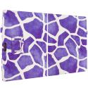 Microsoft Surface Pro 3 Design Giraffe Purple Folio Pouch Flip Case Cover Stand Angle 2
