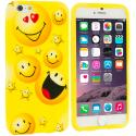 Apple iPhone 6 Plus 6S Plus (5.5) Smiley Face TPU Design Soft Rubber Case Cover Angle 1