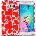 Samsung Galaxy S6 Hearts w Different Shapes TPU Design Soft Rubber Case Cover Angle 1