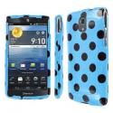 Samsung Galaxy S3 Mini MPERO Full Protection Teal and Brown Polka Dot Case Angle 1