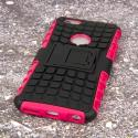Apple iPhone 6/6S - Hot Pink MPERO IMPACT SR - Kickstand Case Cover Angle 3