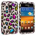 Samsung Epic Touch 4G D710 Sprint Galaxy S2 Colorful Leopard Hard Rubberized Design Case Cover Angle 1