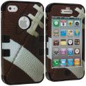 Apple iPhone 4 / 4S Football Hybrid Tuff Hard/Soft 3-Piece Case Cover Angle 2