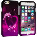 Apple iPhone 6 6S (4.7) Purple Love 2D Hard Rubberized Design Case Cover Angle 1