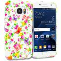 Samsung Galaxy S7 Colorful Flower TPU Design Soft Rubber Case Cover Angle 1