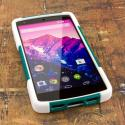 Google Nexus 5 - TEAL GREEN MPERO IMPACT X - Kickstand Case Cover Angle 2