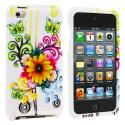 Apple iPod Touch 4th Generation Sunflower Design Crystal Hard Case Cover Angle 1