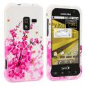 Samsung Conquer 4G D600 Spring Flowers Design Crystal Hard Case Cover Angle 1