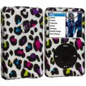 Apple iPod Classic Colorful Leopard Hard Rubberized Design Case Cover Angle 1