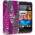 HTC Desire 816 Bowknot Zebra TPU Design Soft Rubber Case Cover Angle 1