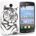 LG Sunrise Lucky L15G L16C White Tiger TPU Design Soft Rubber Case Cover Angle 1