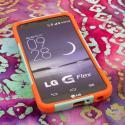 LG G Flex - Coral/ Mint MPERO IMPACT X - Kickstand Case Cover Angle 2