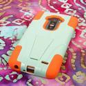 LG G Flex - Coral/ Mint MPERO IMPACT X - Kickstand Case Cover Angle 3