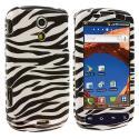 Samsung Epic 4G Black / White Zebra Design Crystal Hard Case Cover Angle 1