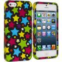 Apple iPhone 5/5S/SE Star Clan Hard Rubberized Design Case Cover Angle 1