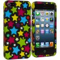 Apple iPhone 5/5S/SE Star Clan Hard Rubberized Design Case Cover Angle 2
