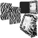 Barnes & Noble Nook Simple Touch Black White Zebra Folio Pouch Case Cover Stand Angle 1