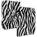 Barnes & Noble Nook Simple Touch Black White Zebra Folio Pouch Case Cover Stand Angle 2