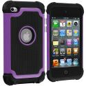 Apple iPod Touch 4th Generation Purple Hybrid Rugged Hard/Soft Case Cover Angle 1