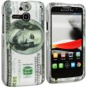 Alcatel One Touch Evolve 5020T Hundred Dollars 2D Hard Rubberized Design Case Cover Angle 1