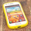 Samsung Galaxy Prevail 2 - Yellow MPERO FLEX S - Protective Case Cover Angle 2