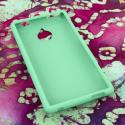 HTC 8XT MPERO Full Protection Hard Rubberized Mint Case Cover Angle 2