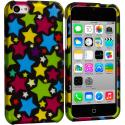 Apple iPhone 5C Star Clan Hard Rubberized Design Case Cover Angle 1