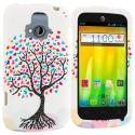 ZTE Radiant Love Tree on White Hard Rubberized Design Case Cover Angle 1