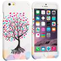 Apple iPhone 6 Plus 6S Plus (5.5) Love Tree on White Hard Rubberized Design Case Cover Angle 1