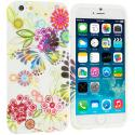 Apple iPhone 6 Plus 6S Plus (5.5) Flower Rainbow Colorful TPU Design Soft Rubber Case Cover Angle 1