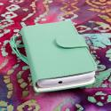Huawei Valiant - Mint MPERO FLEX FLIP Wallet Case Cover Angle 2