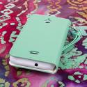 Huawei Valiant - Mint MPERO FLEX FLIP Wallet Case Cover Angle 3