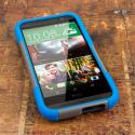 HTC One M8 - Blue/ Gray MPERO IMPACT X - Kickstand Case Cover Angle 2