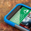HTC One M8 - Blue/ Gray MPERO IMPACT X - Kickstand Case Cover Angle 5