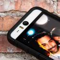 HTC Desire EYE - Black MPERO IMPACT XT - Kickstand Case Cover Angle 6
