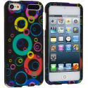 Apple iPod Touch 5th 6th Generation Colorful Bubbles Hard Rubberized Design Case Cover Angle 1